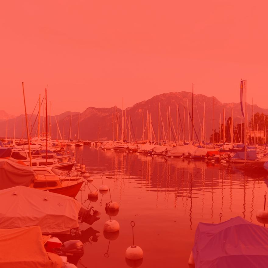 Boats on Lac Léman, Geneva