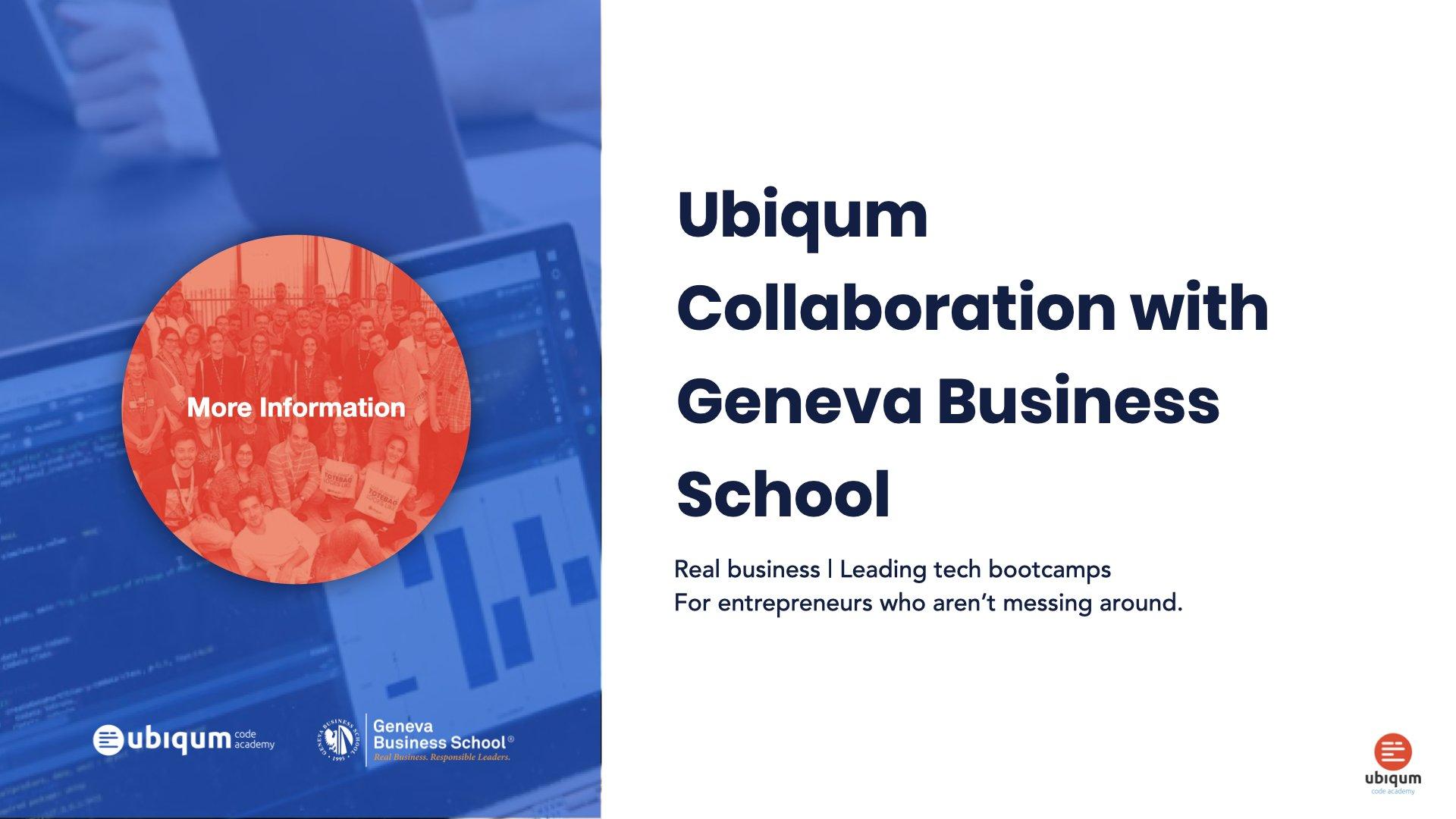 Ubiqum Collaboration with Geneva Business School featured