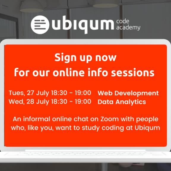 Sign up for the Ubiqum Online Info Sessions — July 2021
