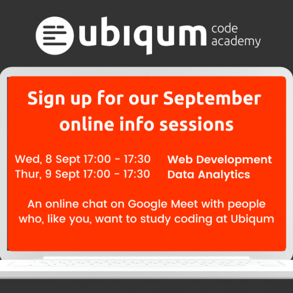 Sign up for the Ubiqum Online Info Sessions — September 2021