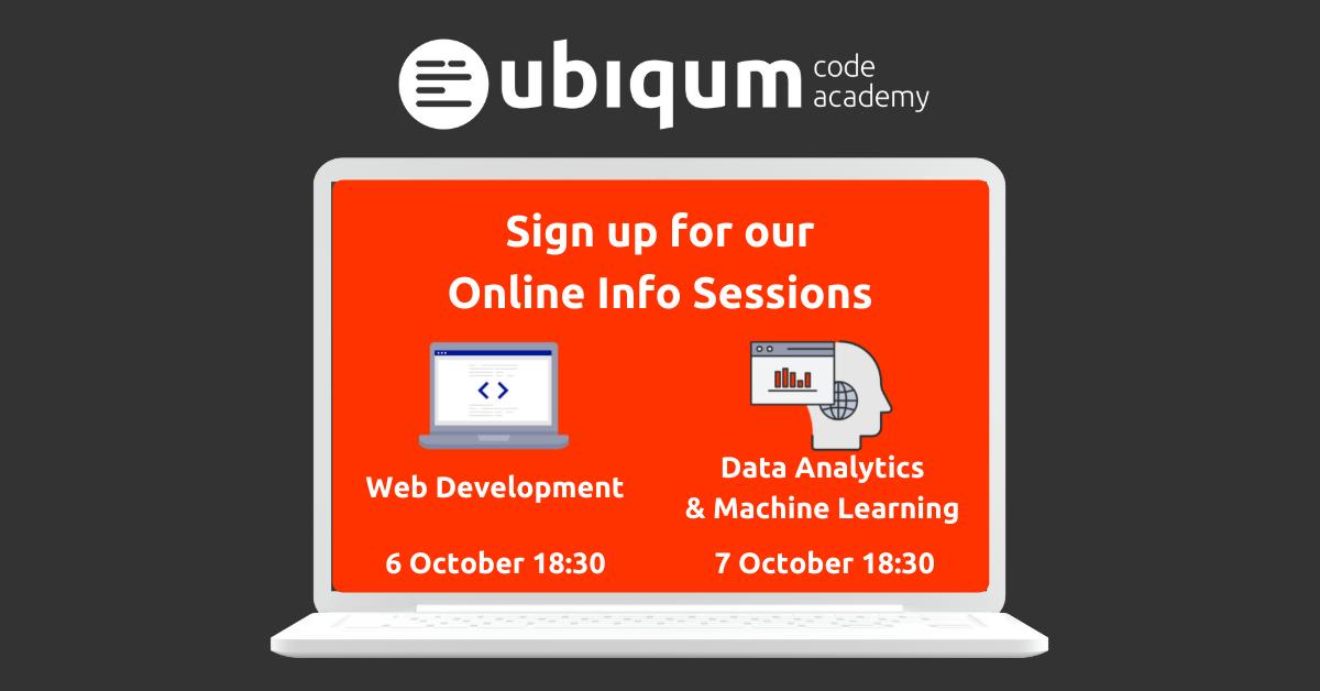 Ubiqum October info sessions